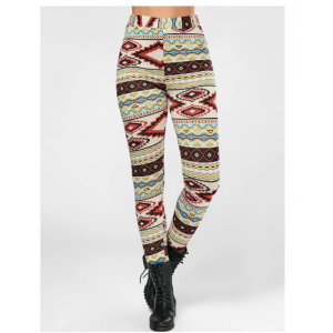 High Waisted Colorful Geometrical Print Leggings