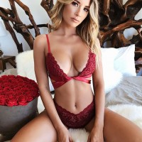 2019 Newest Hot Lady Women's Sexy Lace Lingerie Bralette Push Up Bra G-string Set Thong Sleepwear Underwear Women Brief Set Red