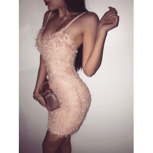 2019 Women's Bandage Bodycon Sleeveless Evening Party Sexy Club Wear Short Dress Pink Black