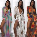 Sexy Beach Cover Up Women Dress Tunic Pareos Ladies Kaftan Robe Cover-up Woman Beach Wear Swimsuit White Orange Green