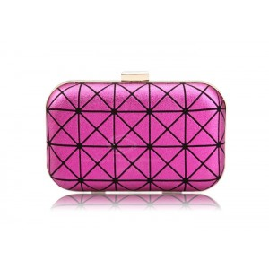 Party Women's Evening Bag With Candy Color and Triangle Design