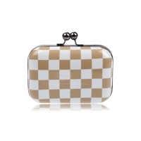 Party Women's Evening Bag With Color Block and Checked Design