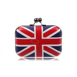 Party Women's Evening Bag With Color Block and Flag Pattern Design