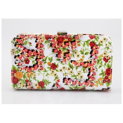 Party Women's Evening Bag With Floral Print and Hard Shell Design