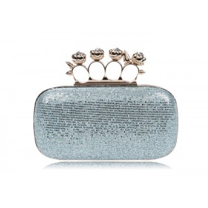 Party Women's Evening Bag With Rhinestone and Sparkling Glitter Design