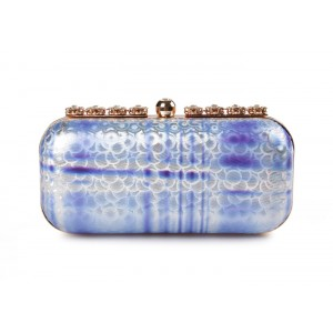 Party Women's Evening Bag With Rhinestones and Color Block Design