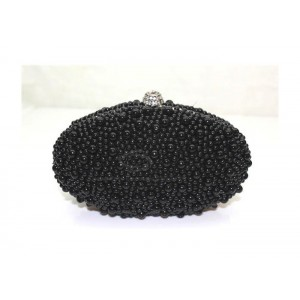 Party Women's Evening Bag With Solid Color Egg Pattern Pearl Design