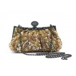 Party Women's Evening Bag With Vintage Beaded and Sequin Design