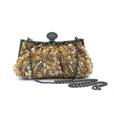 Party Women's Evening Bag With Vintage Beaded