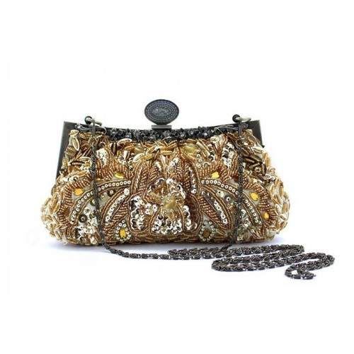 Party Women S Evening Bag With Vintage Beaded And Sequin Design