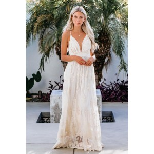 White It Was All A Dream Lace Maxi Dress