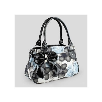 Casual Women's Shoulder Bag With Bowknot and Floral Print Design