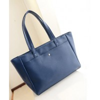 Concise Women's Shoulder Bag With Solid Color and PU Leather Design