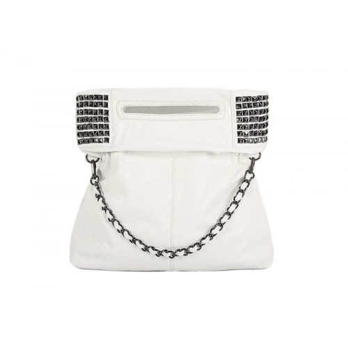 0b8abd51fbb8 Elegant Casual Women s Shoulder Bag With Solid Color Rivets and Metal Chain  Design