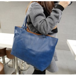 Fashion Women's Shoulder Bag With Solid Color and PU Leather Design