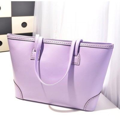 Pretty Women's Shoulder Bag With Lacework and Solid Color Design