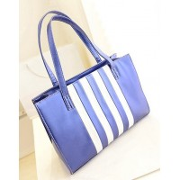 Pretty Women's Shoulder Bag With Striped and PU Leather Design