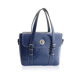 Stylish Women's Shoulder Bag With Buckle and Stitching Design