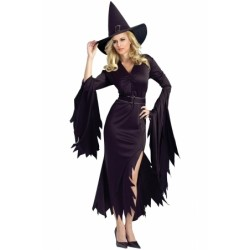All Black Gothic Witch Halloween Costume