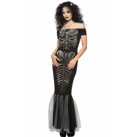 Halloween Party Skeleton Mermaid Costume