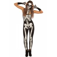 Skeleton Jumpsuit Women Halloween Costume