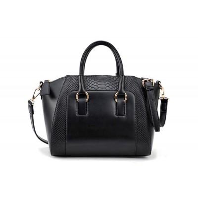 Simple Women's Street Level Handbag With Tote and Crocodile Veins Design