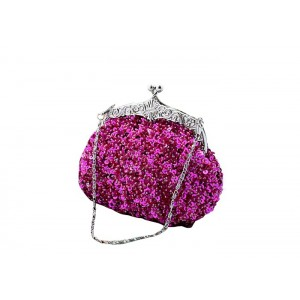 Stylish Vintage Party Women's Evening Bag With Sequins and Metal Design