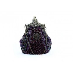 Stylish Vintage Wedding Women's Evening Bag With Metal and Bead Design