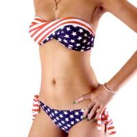Divided Type Design Lady Style Padding Bra + Panty Women's Swimwear