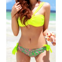 Sexy Women's Underwire Printed Two-piece Swimsuit
