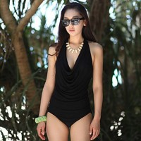 Women's Sexy Halter Mesh One-piece