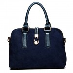 Business Women's Tote Bag With Splice and Zipper Design