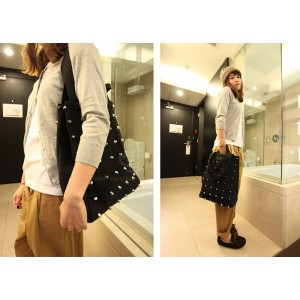 Casual Fashion Women's Tote With Solid Color and Rivets Design