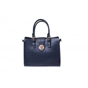 Casual Laconic Women's Tote With Solid Color and Belts Buckles Design