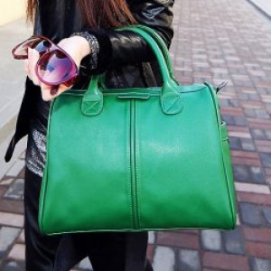 Casual Women's Tote Bag With PU Leather and Solid Color Design