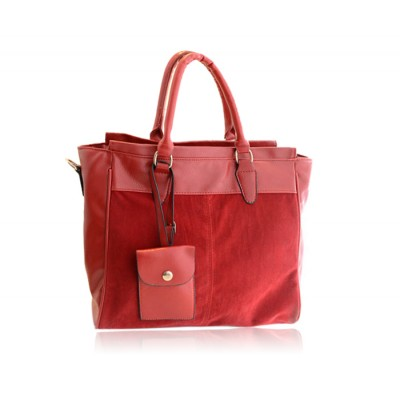 Casual Women's Tote Bag With Splice and Zipper Design