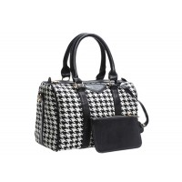 Casual Women's Tote With Bucket Shape PU Leather Checked Design