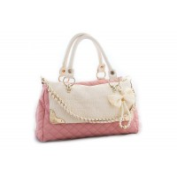 Casual Women's Tote With PU Leather and Bow Faux Pearls Design