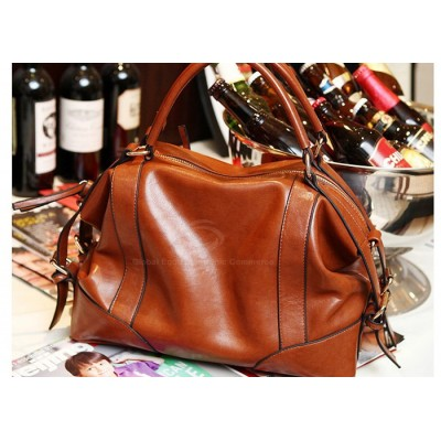 Casual Women's Tote With PU Leather Vintage Style Belts and Buckles Design