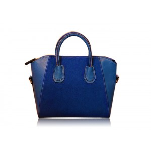 Elegant Women's Leather Handbag With Splicing and Stitching Design