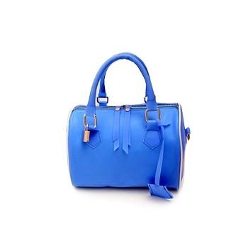 Elegant Women's Street Level Handbag With Candy Color and Pendant Design