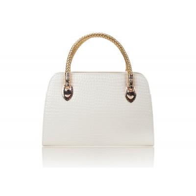 Elegant Women's Tote Bag With Crocodile Print and PU Leather Design