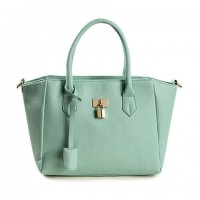 Elegant Women's Tote Bag With Pendant and Lock Design