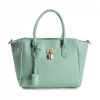 Elegant Women's Tote Bag With Pendant and Lock Design
