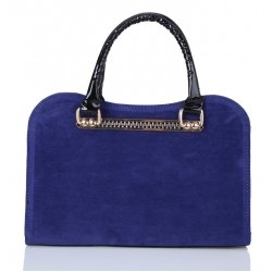 Elegant Women's Tote Bag With Suede and Splice Design