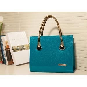 Elegant Women's Tote Bag With Weaving and Zipper Design Black