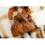 Fashion Style Women's Street Level Handbag With Tote and Chain Design