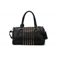 Fashion Style Women's Street Level Handbag With Tote and Rivets Design