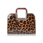 Fashion Style Women's Tote Bag With Leopard Print and Patent Leather Design