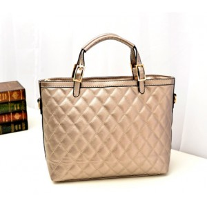 Fashion Women's Tote Bag With Buckle and Checked Design